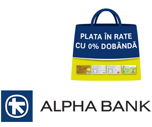 Plata in rate prin Alpha Bank